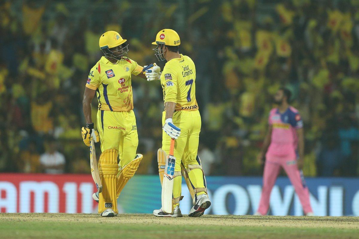 IPL 2019: Chennai Super Kings defeat Rajasthan Royals by 8-runs, makes hat-trick