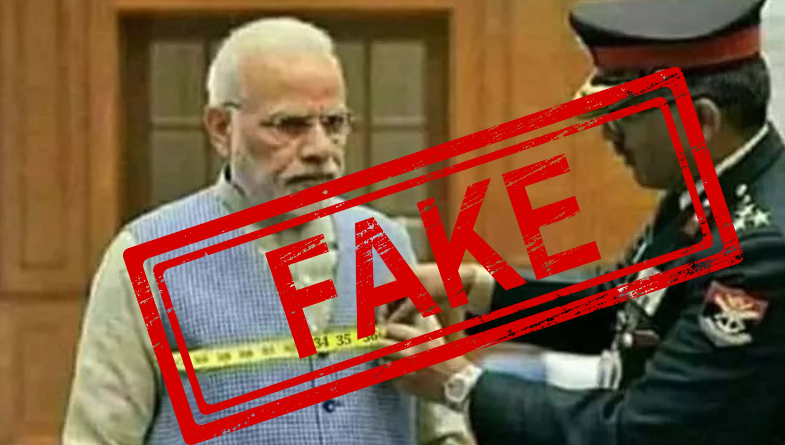 Prime Minister, Narendra Modi, Indian, Army, Tape, NewsMobile, Mobile, News, India, Fact check, Fact Checker, Fake, News