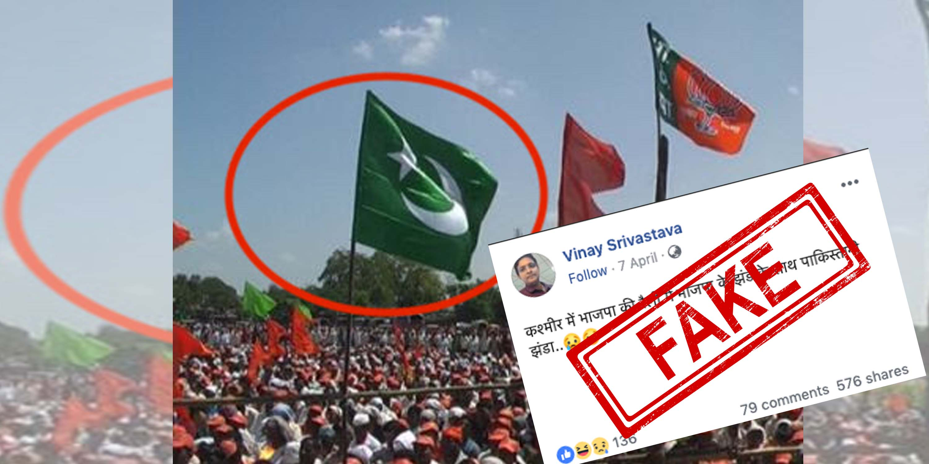 Pakistan, Flag, Rally, BJP, Shiv Sena, Elections, Jammu and Kashmir, Maharashtra, 2009, NewsMobile, Mobile, News, India, Fake, News, Fact Checker, NewsMobile, India