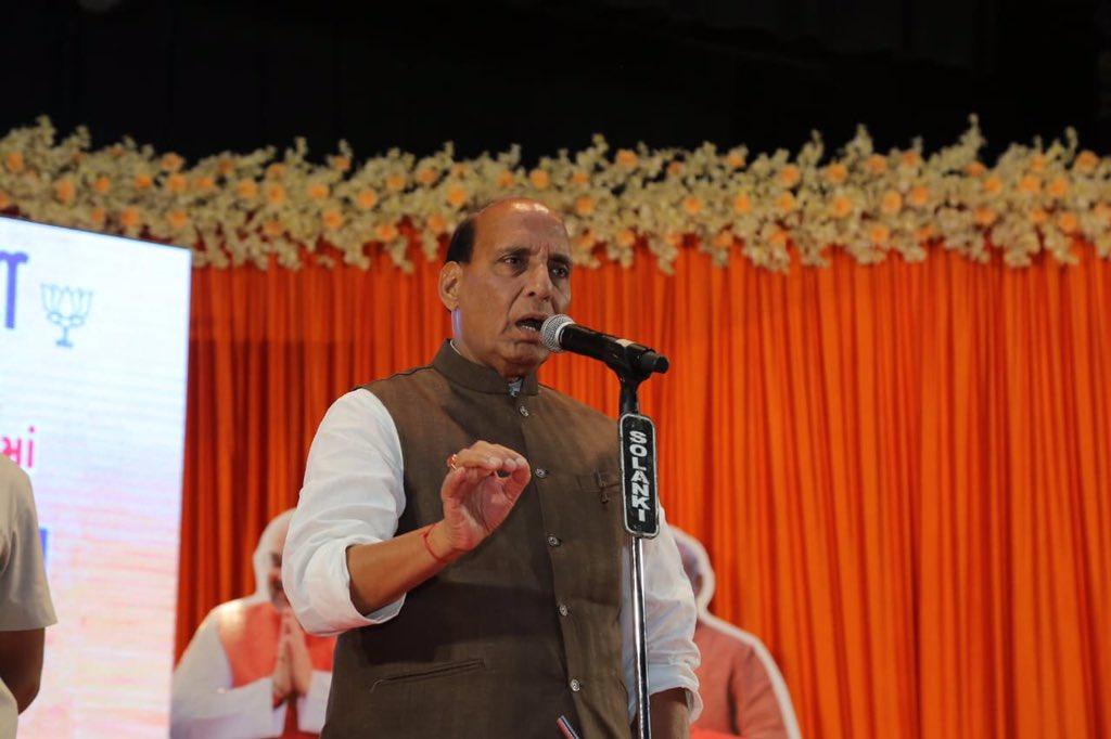 Home Minister, Rajnath Singh, Lok Sabha, Lucknow, Uttar Pradesh, Nomination, Paper, Lok Sabha, Elections, 2019, Polls, Yogi Adityanath, NewMobile, Mobile, News, India