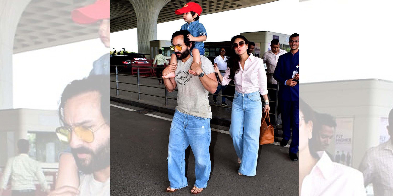 Saif Ali Khan, Taimur, Kareena Kapoor Khan, NewsMobile, Mobile, News, India, Entertainment, paparazzi,