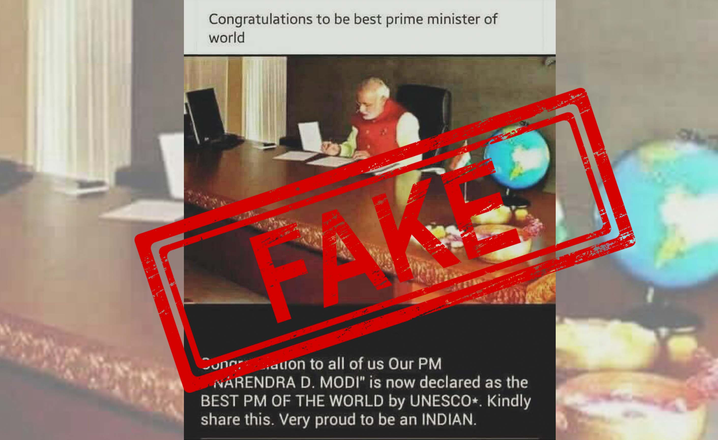 Prime Minister, Narendra Modi, UNESCO, BJP, India, NewsMobile, World, Mobile, news, Fact Check, Fact Checker, Fake