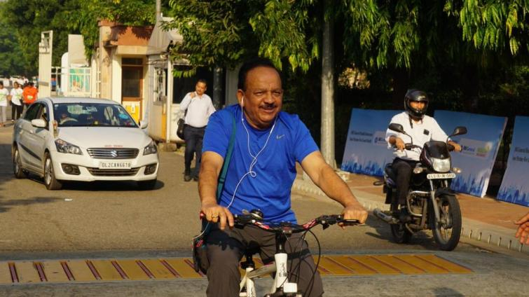 Dr Harsh Vardhan, Health Minister, World Bicycle Day, News Mobile, News Mobile India