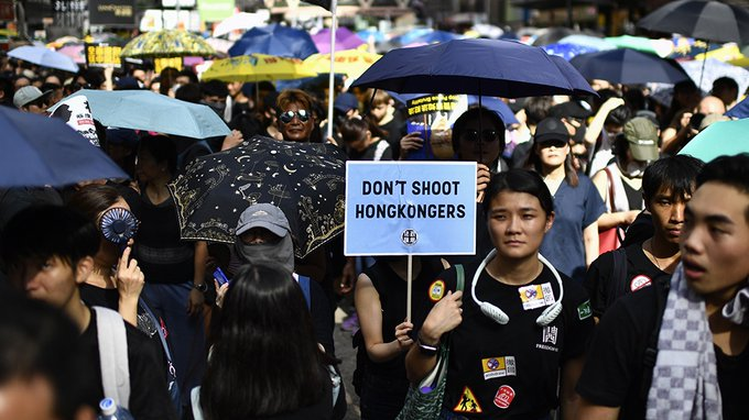Hong Kong, Protest, Police, Tear gas, NewsMobile, Mobile, news, India, World
