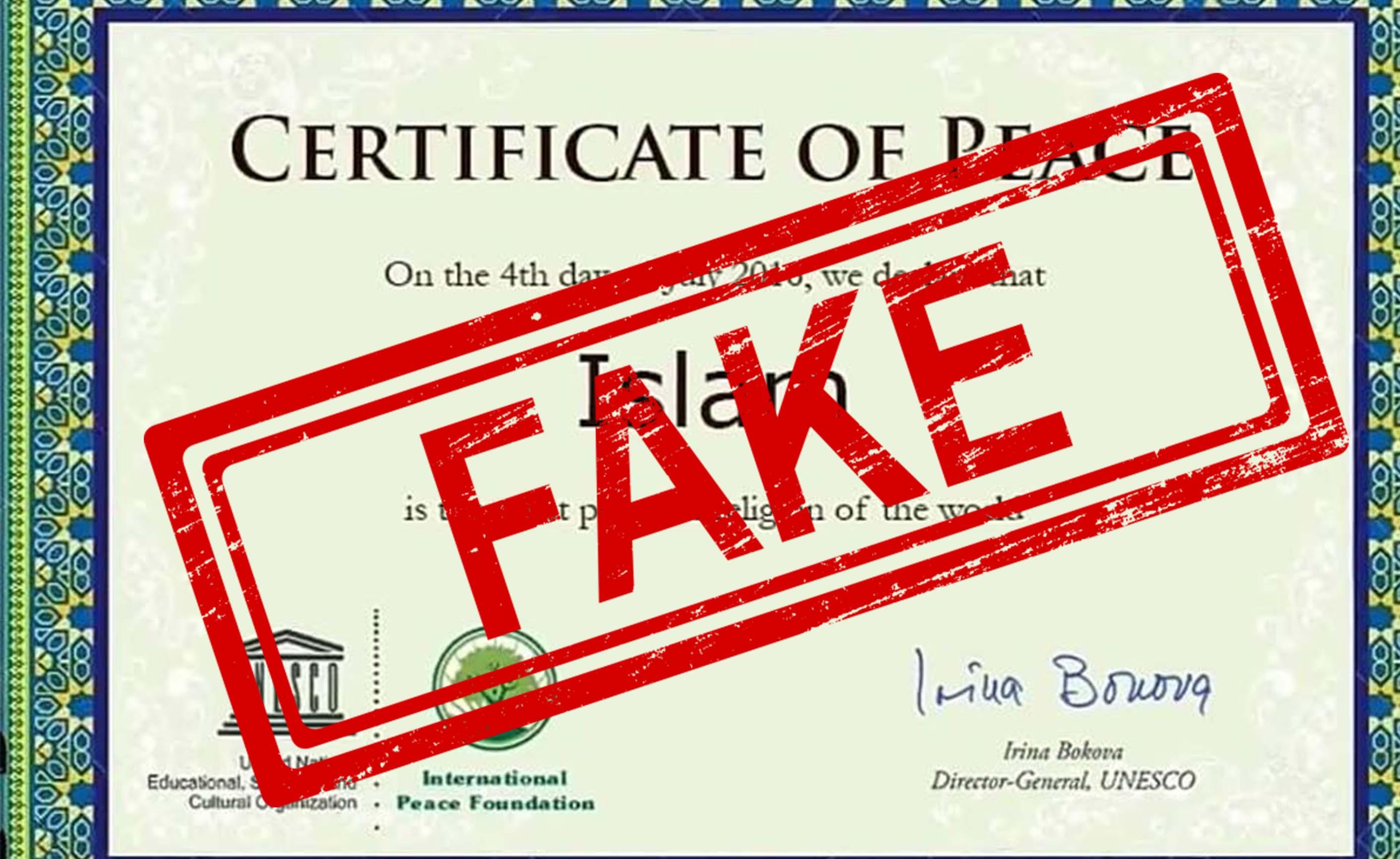 UNESCO, Islam, Peaceful, Religion, NewsMobile, Mobile, News, India, Fact Check, Fact Checker, Fake