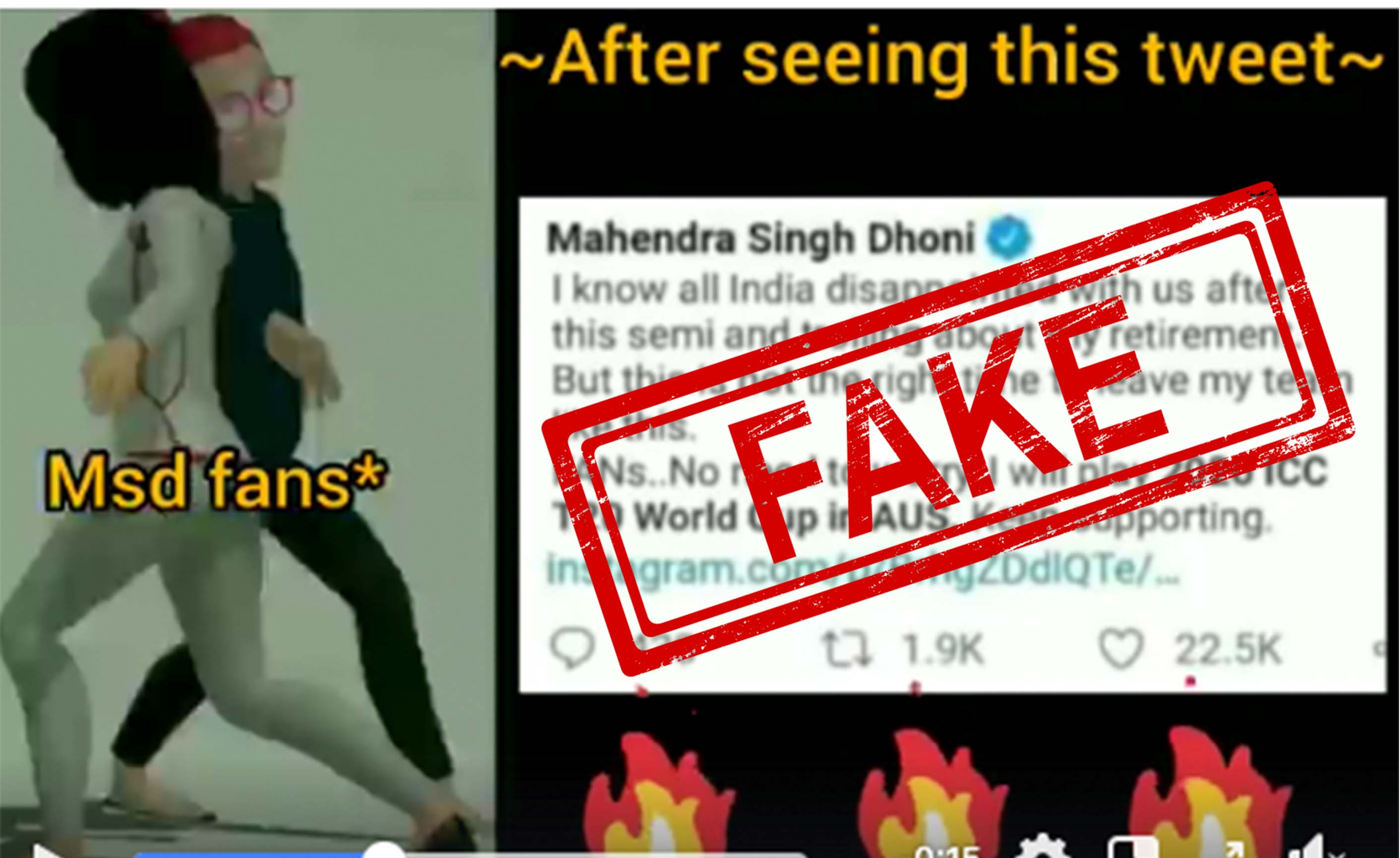 MS Dhoni, T20, World Cup, India, Tweet, NewsMobile, Mobile, News, Fact Check, Fact Checker, Fake