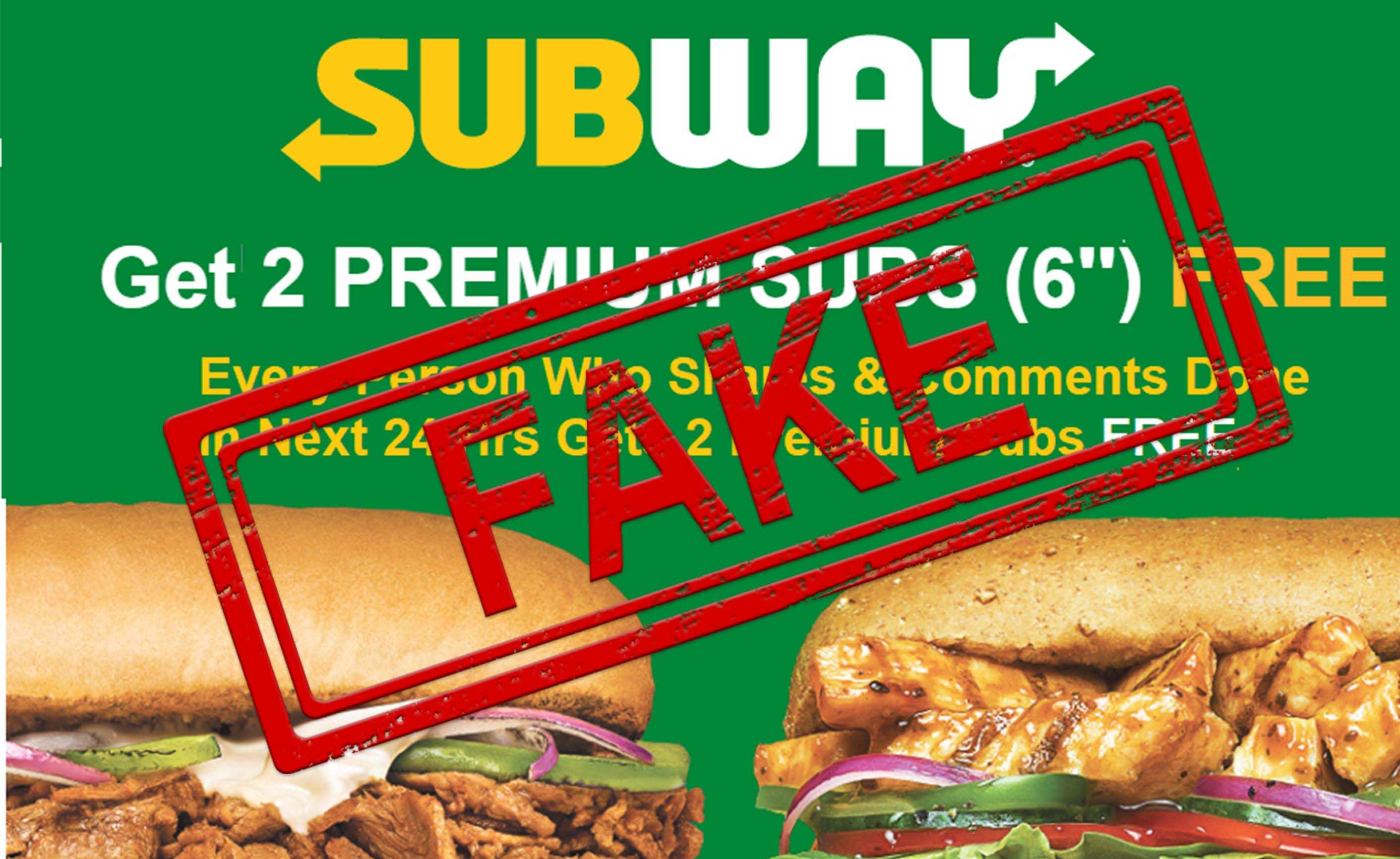 Subway, FAKE, Sub, Free, 2, NewsMobile, Mobile, News, India, FactCheck, Fact Checker