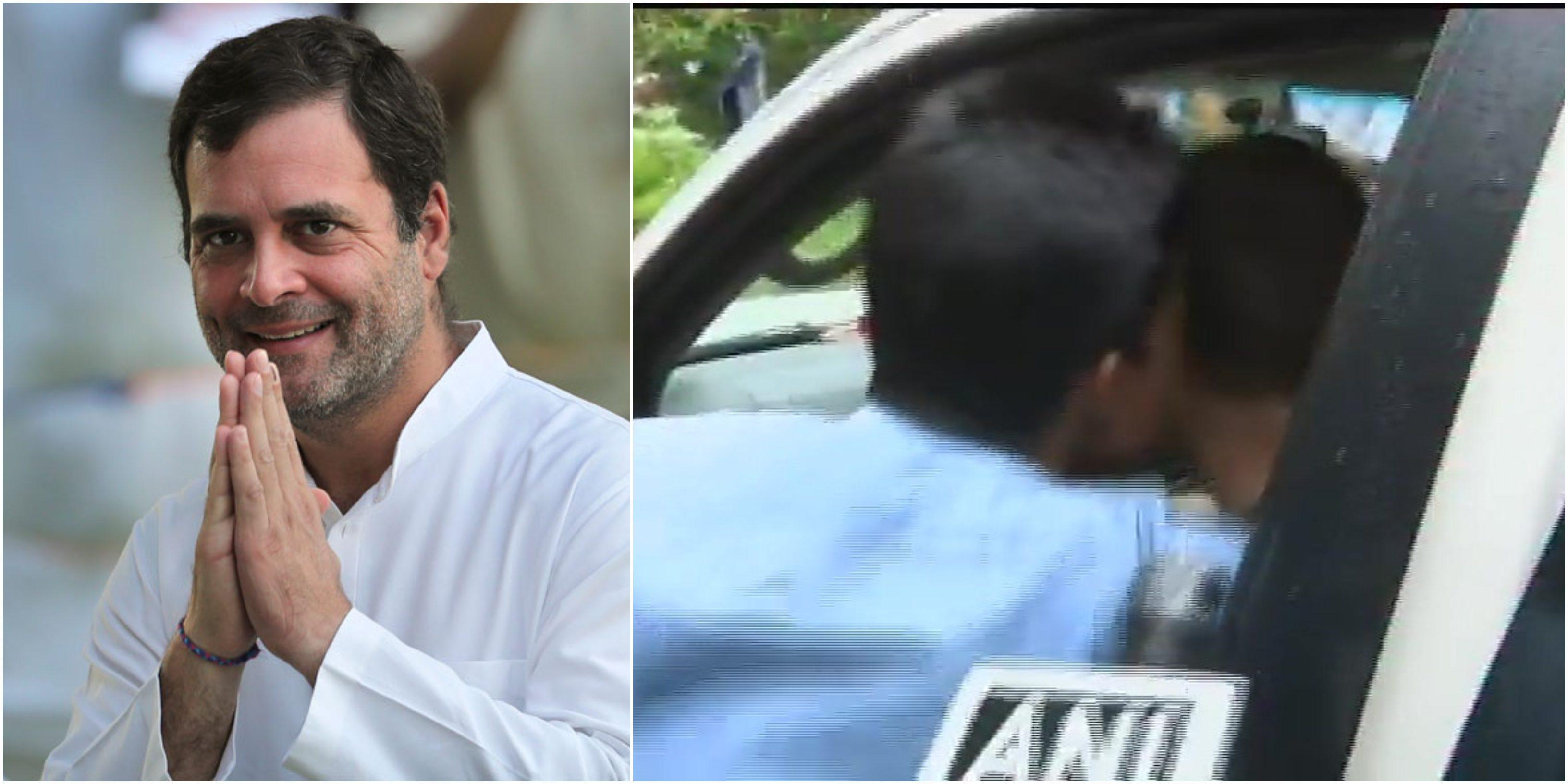 Rahul Gandhi, Waynad, Kissed, Man, Flood, Kerala, NewsMobile, Mobile, News, Congress, Lok Sabha, MP