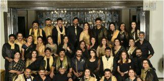 Chiranjeevi, Venkatesh, Sarath Kumar, Bhagyaraj, Nadhiya, Revathy, Ambika, Radha, Jackie Shroff, Parvathy Jayaram and Sumalatha.