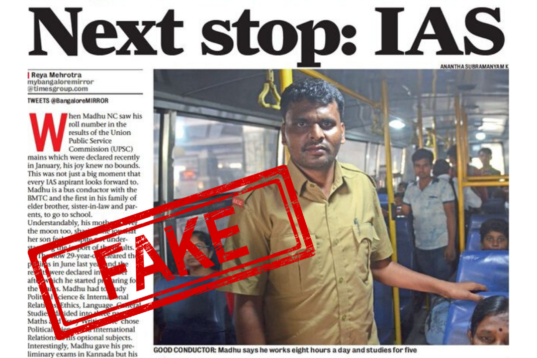 Bangalore, BMTC, Madhu NC, NewsMobile, NewsMobile, Fact Check, Fake News, NewsMobile India, Bangalore Mirror