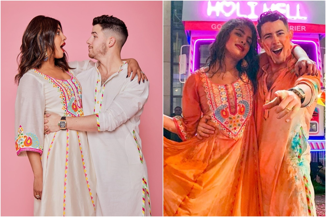 Nick Jonas, Priyanka Chopra, Holi, 2020, NewsMobile, NewsMobile India, Hollywood, Bollywood
