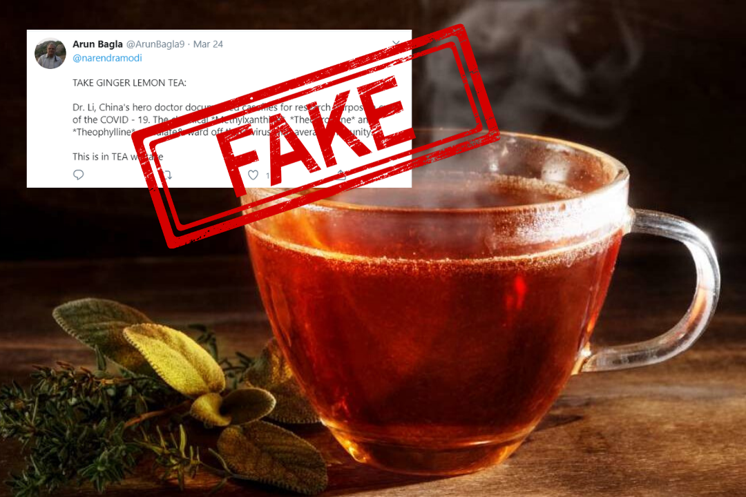Fake News, Fact Check, Tea, Coronavirus, COVID19, News, Mobile, WHO, Cure