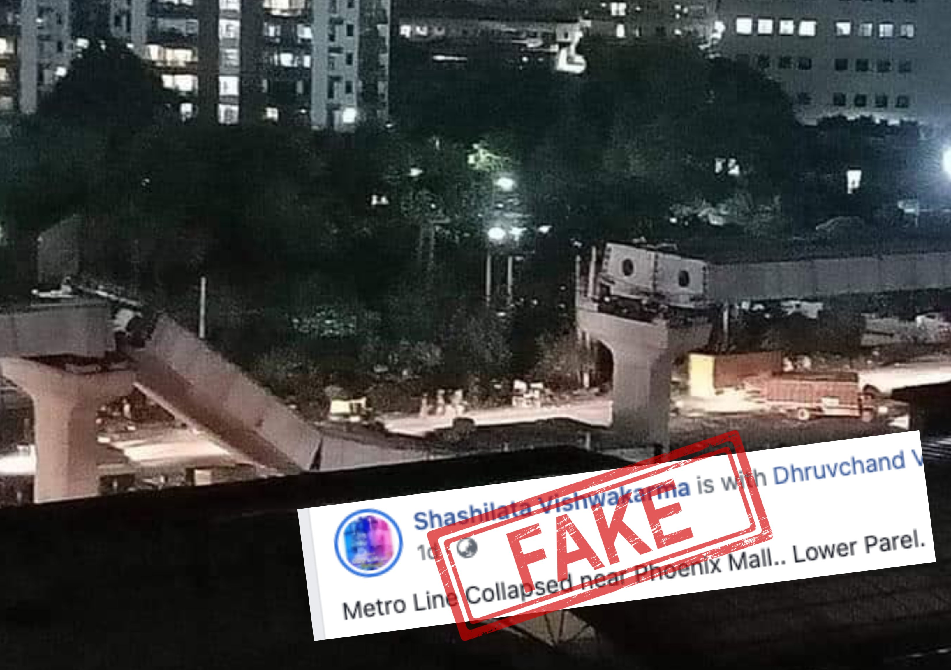 Fact Check Pictures Of Gurugram Flyover Collapse Shared As Mumbai Ahmedabad Newsmobile