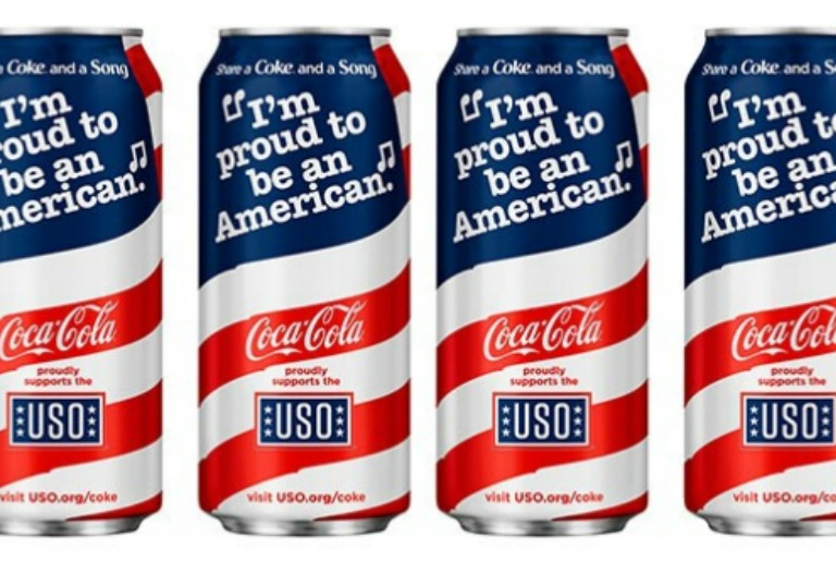 Coca-Cola: Beverage Company Launches Red, White and Blue Cans