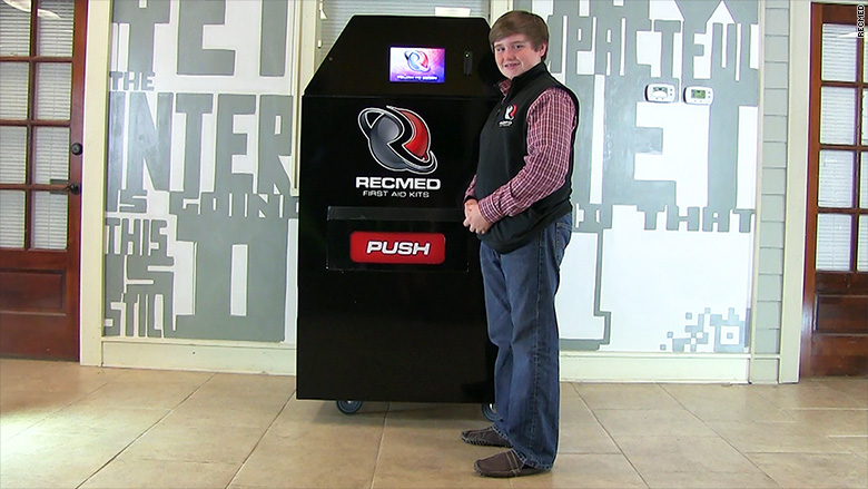 This 14-year-old could become a vending machine mogul