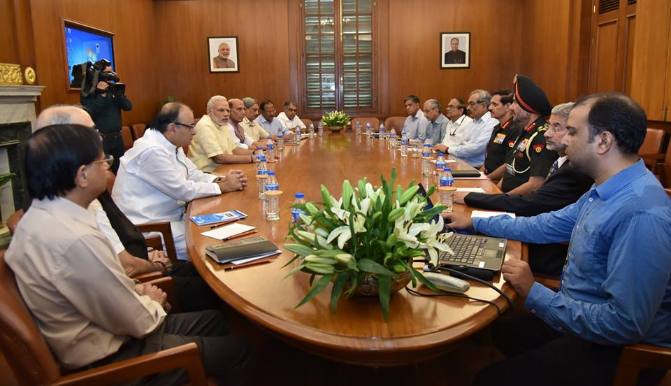 Prime Minister, Narendra Modi, Cabinet Committee on Security, CCS, Arun Jaitley, Rajnath Singh, Manohar Parrikar, Ajit Doval, Dalbir Singh Suhag, S Jaishankar, ceasefire violations