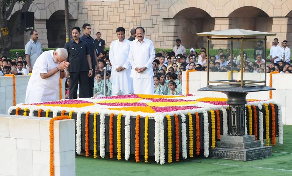 Mahatma Gandhi, President Pranab Mukherjee, Prime Minister Narendra Modi, President Pranab Mukherjee, Prime Minister Narendra Modi, , Manmohan Singh, Hamis Ansari, Gandhi Jyanti