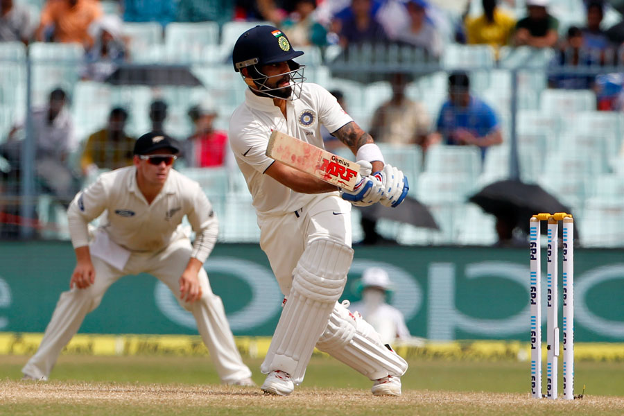 Trent Boult , Virat Kohli, Rohit Sharma, half-century , Wriddhiman Saha, Edens Garden , India, New Zealand, second cricket Test,
