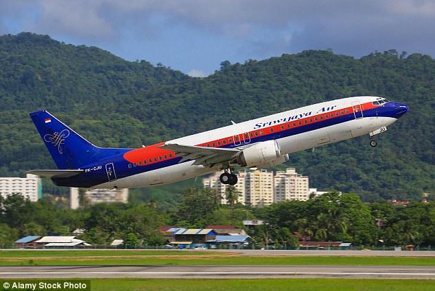 The Sriwijaya Air flight, passenger plane, Indonesia