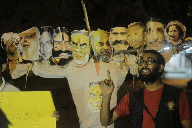 Amit Shah , National Students' Union of India , Hafiz Saeed, Nawaz Sharif, , gau-rakshak, Jagadesh Kumar, Ravana, burning of effigy, JNU administration,Narendra Modi,