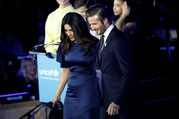 Goodwill Ambassador, Bollywood Actress, Priyanka Chopra, UNICEF, David Beckham, , British actress, Millie Bobby Brown, Quantico,