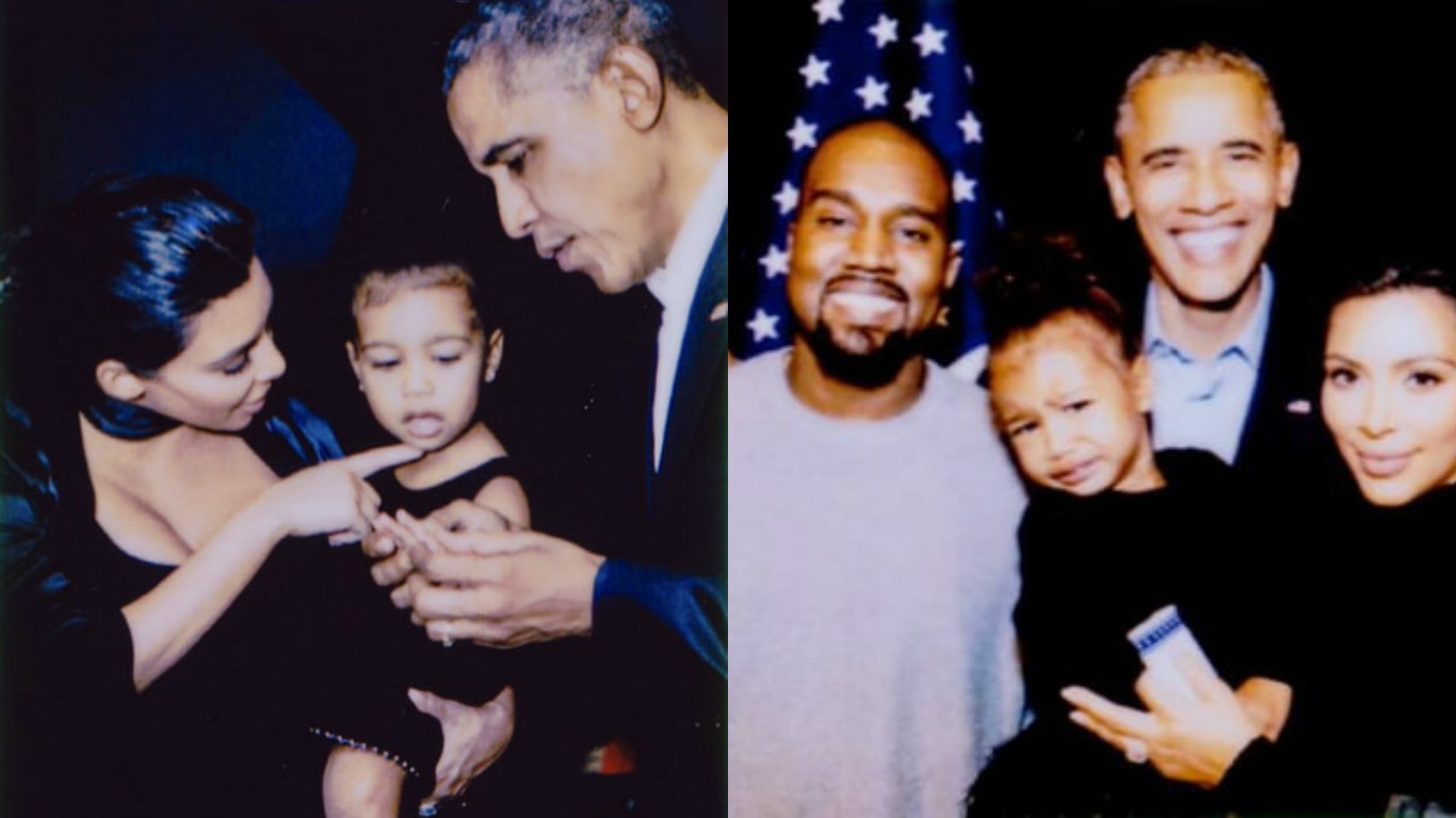 Kim KardashianX social mediaX US President Barack ObamaX InstagramX Kanye WestX North