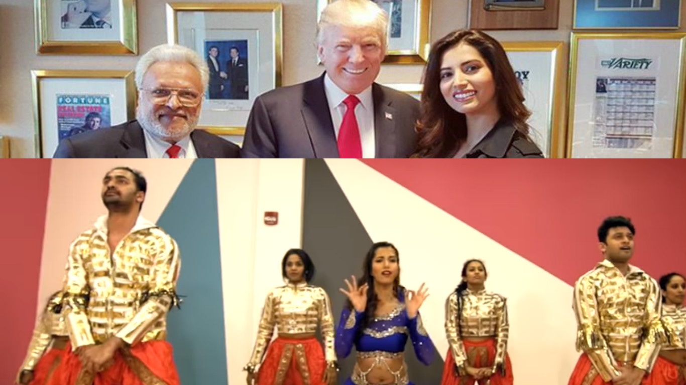 X Manasvi MamgaiX Bollywood actressX historic National MallX Donald TrumpX A R Rahman.X 45th President of the United States.