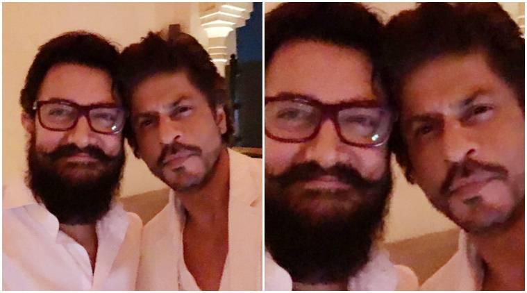 X Shah Rukh Khan and Aamir KhanX Ajay BijliX DubaiX TwitterX Koffee With Karan season four