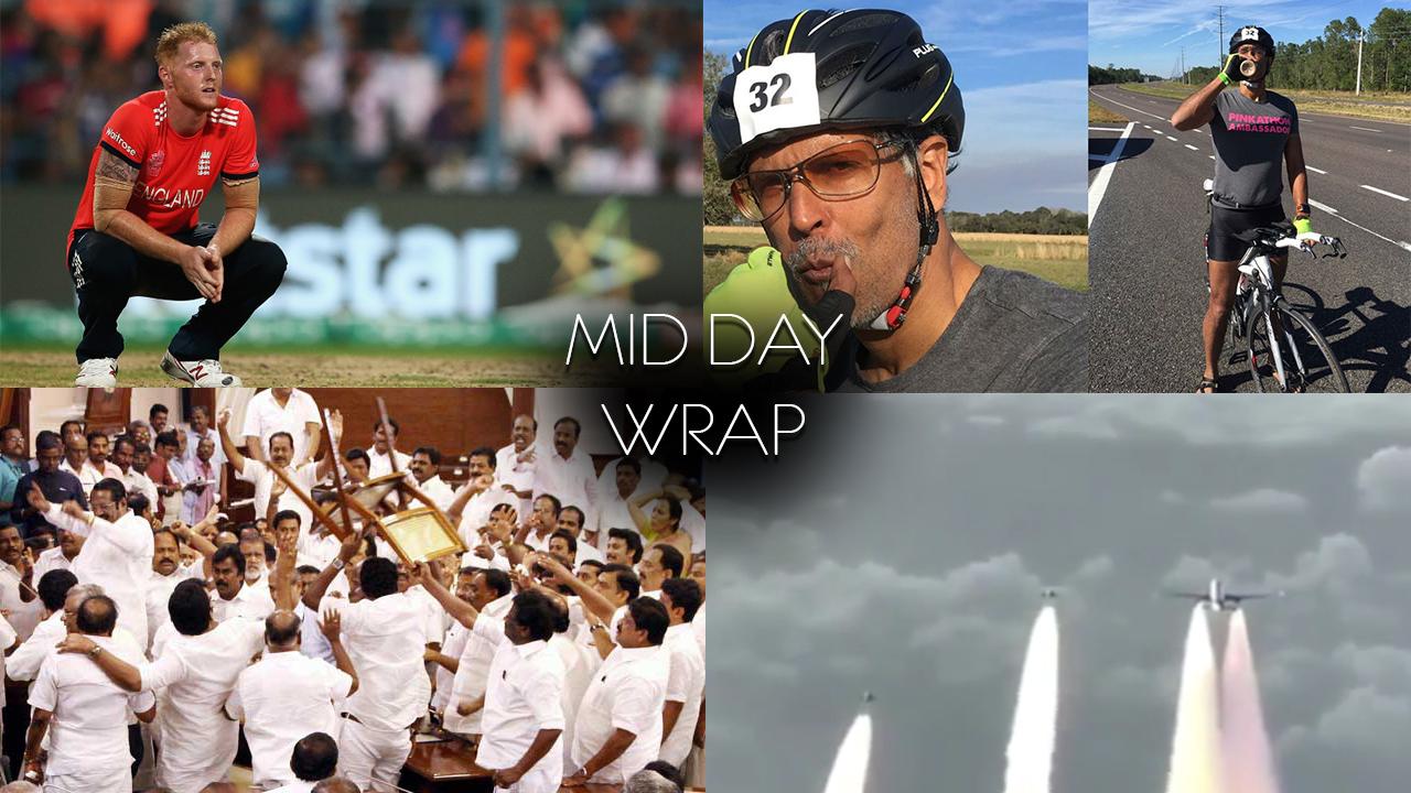 NewsMobile Mid-day wrap, IPL Auction, Jet Airways, London, Milind Soman, The Ultraman, Gurgaon