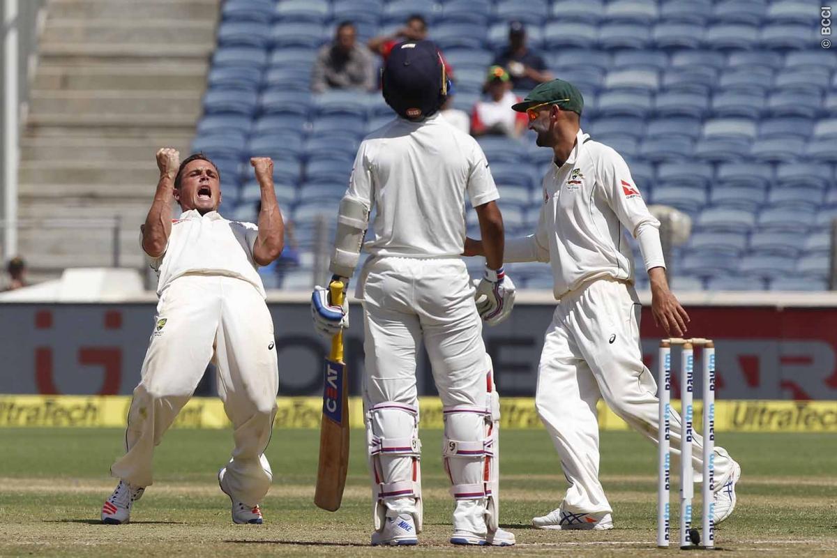 India, opening batsman, Murali Vijay, ICC match referee, Chris Board, 333-run margin, Pune wicket,