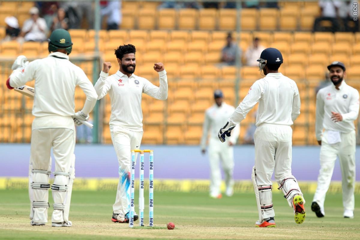 India, Australia, test, second test, third day, virat kohli, Jadeja, Steve Smith