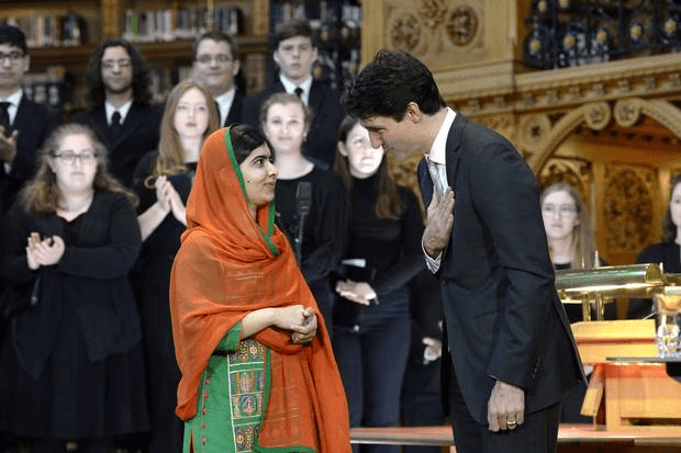 Nobel Laureate, Malala Yousafzai, Canadian Parliament, Canada, Canadian citizenship, 19-year-old, Canadian Prime Minister, Justin Trudeau, Prime Minister