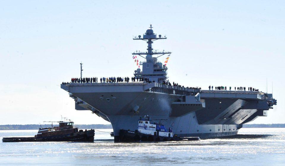 US Navy ship, Virginia, USS Gerald R. Ford ship