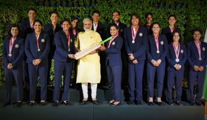 Women's world cup, team, Prime Minister, Narendra Modi