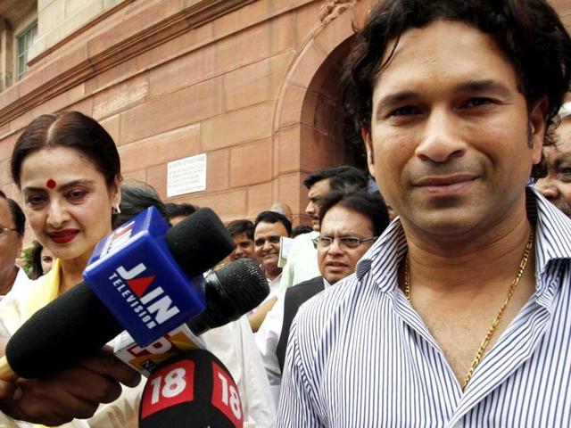 Sachin Tendulkar, Rekha, Rajya Sabha, Parliament, Attendance,