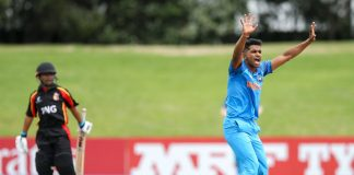 Anukul Roy's fifer helps India bowl out PNG for 64, India win in 8 overs