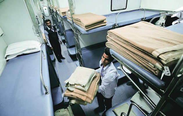 Indian Railways, clean, blankets, once, two months, Railway Ministry, Parliament, Minister of state, Rajen Gohain, Lok Sabha, NewsMobile, Mobile News, India