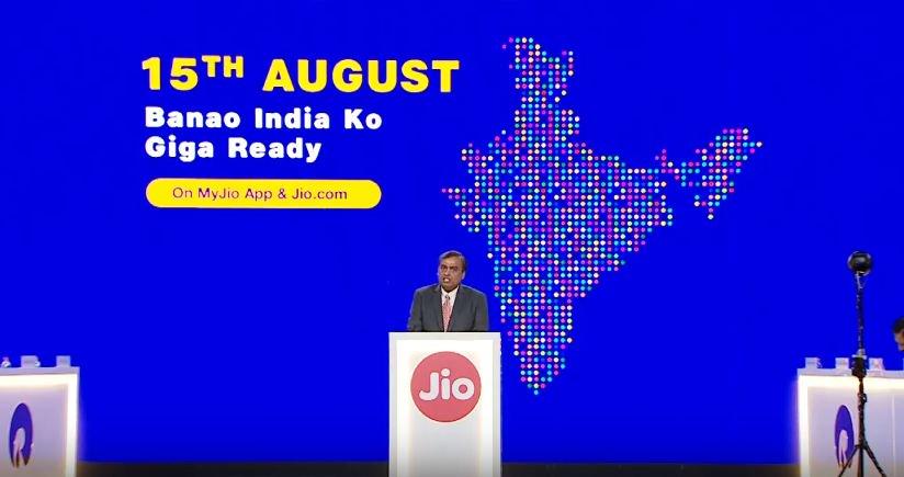Reliance, launches, fixed-line, broadband, Jio, GigaFiber, NewsMobile, Mobile News, India, Technology
