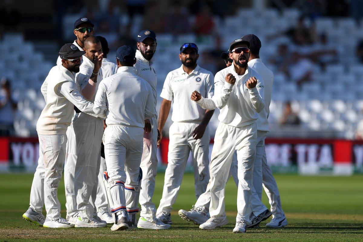 Nottingham test, India, thrash, England, 203 runs, Virat Kohli, second most, successful, test, skipper, Newsmobile, Mobile News, India