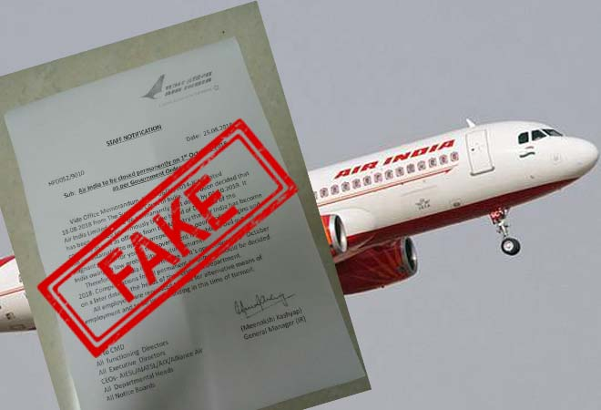 Air India, shut, October, truth, viral, letter, Fake, Fake news, Fact Check, Fact Checker, NewsMobile, Mobile News, India