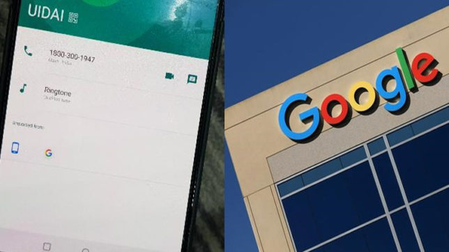 Google, admits, apologises, inadvertently, adding, UIDAI, helpline, numbers, Newsmobile, Mobile news, India