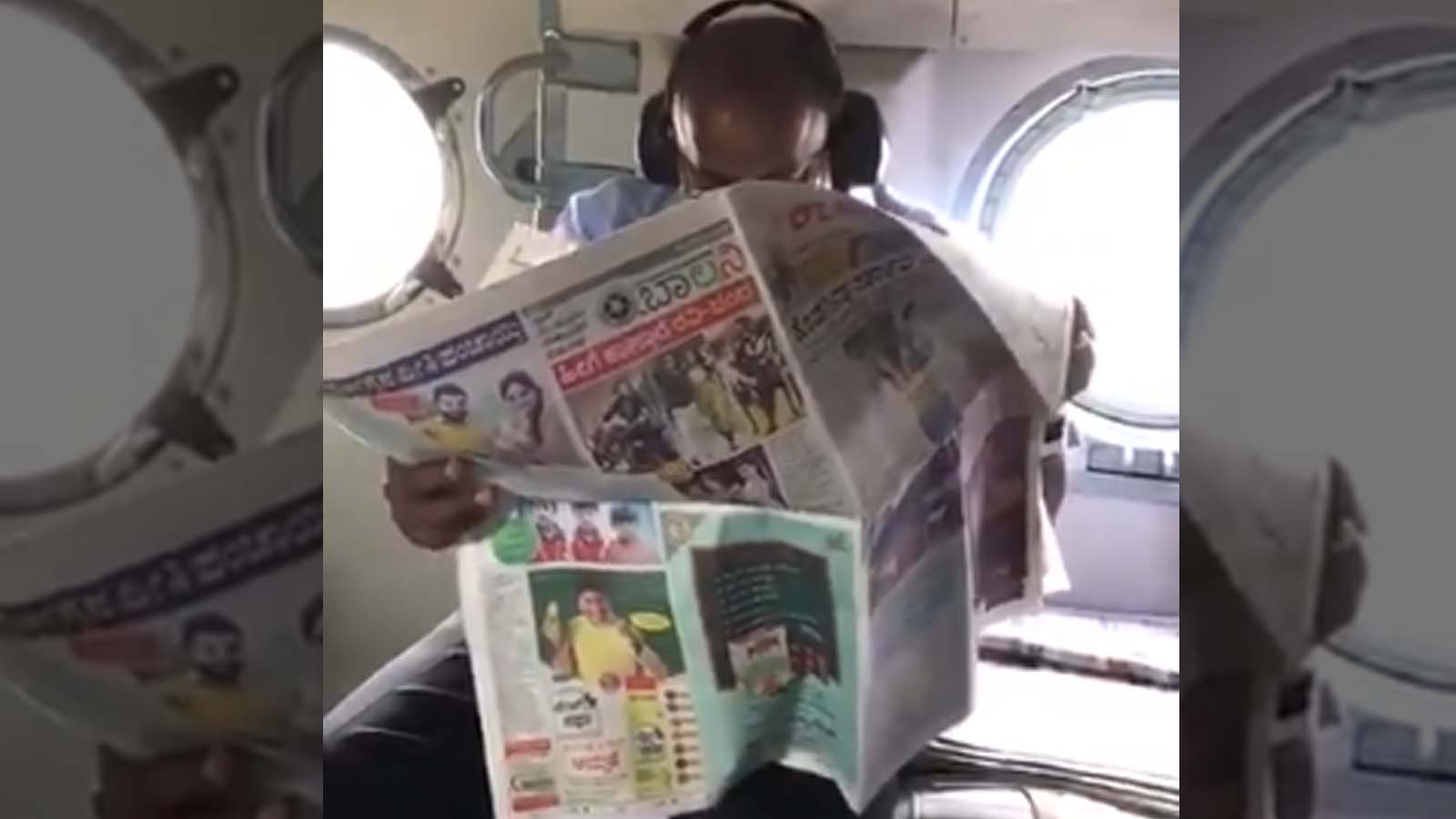 Karnataka, CM, Kumaraswamy, read, newspaper, Kerala, flood, aerial, survey, NewsMobile, Fact Check, Fact Checker, NM, India, Mobile News