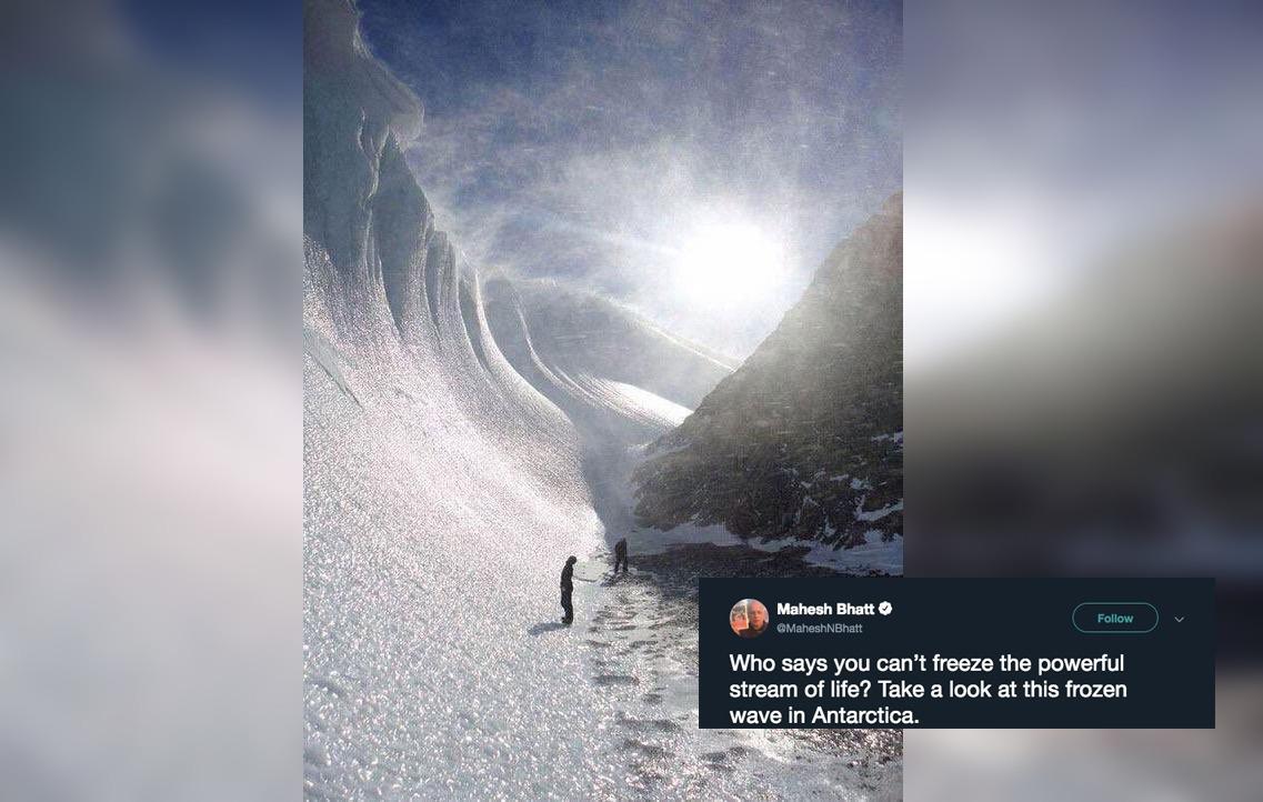 Frozen Wave, Freeze, Antarctica, Glacier, Fact Check, Fact Checker, NewsMobile, Mobile News, India