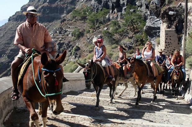 Overweight, tourists, ban, riding, donkey, Greece, island, Santorini, Travel, Global Traveller, NewsMobile, Mobile News, India