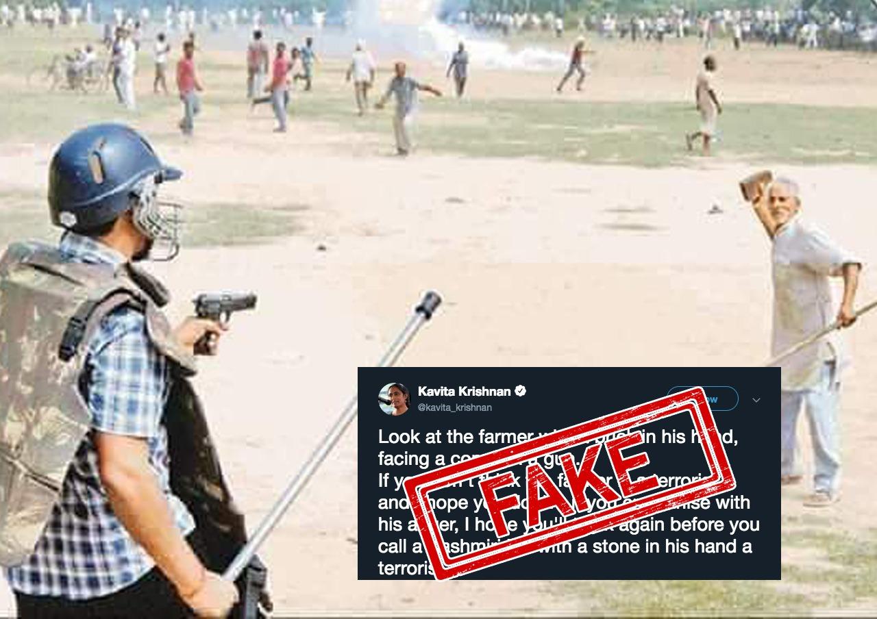 Farmer, Farmer's Protest, Delhi, Uttar Pradesh, Protest, Fake, Meerut, Fact Checker, Fact checker, NewsMobile, Mobile News, India