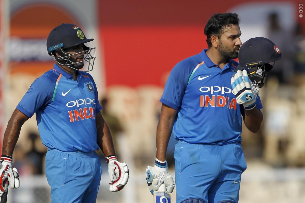 Rohit Sharma, equal, Sourav Ganguly, record, score, 21st, ODI century, One Day International, NewsMobile, Mobile, News, India, West Indies, Cricket