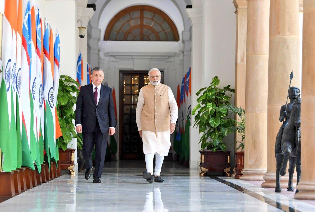India, Uzbekistan, work, Afghanistan, peace, PM Modi, Narendra Modi, Prime Minister, NewsMobile, Mobile News
