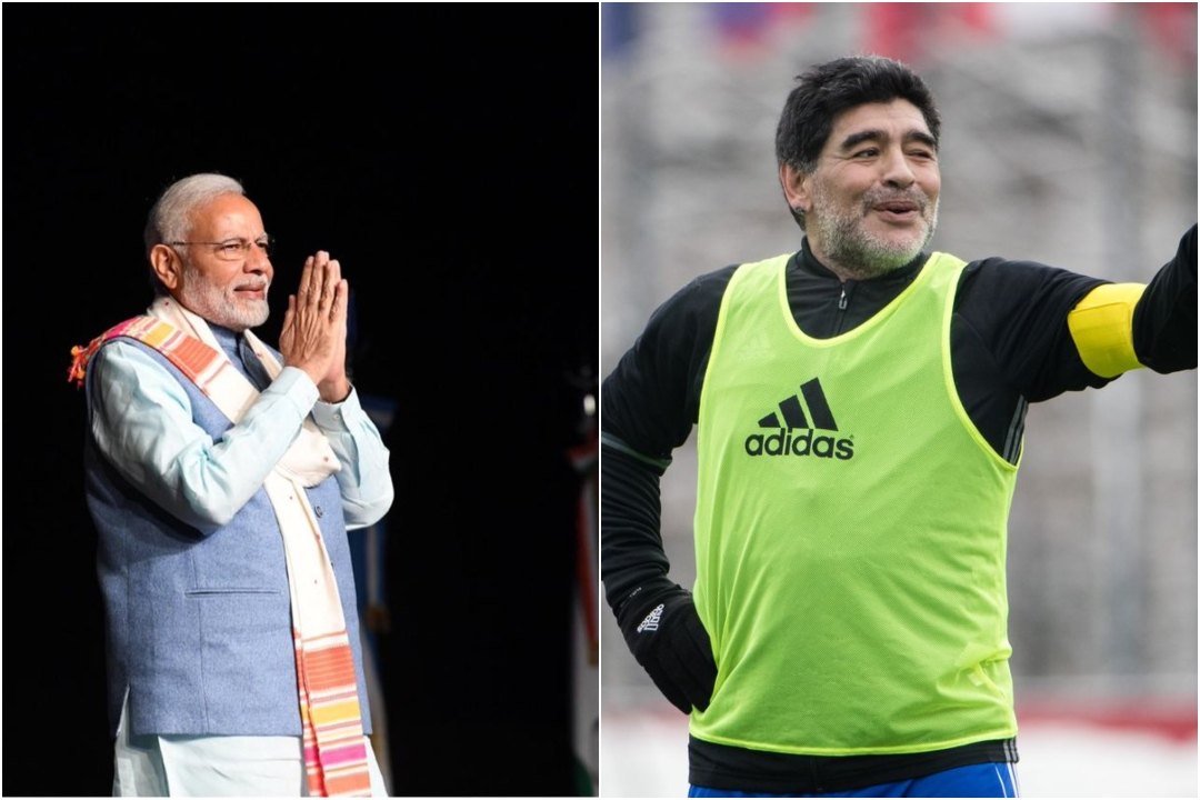 Prime Minister, Narendra Modi, Maradona, Argentina, Football, legend, NewsMobile, Mobile, News, India