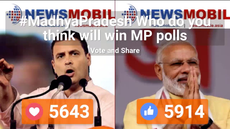 Congress, BJP, Madhya Pradesh, Battle For States, Politics, Rahul Gandhi, Prime Minister, Narendra Modi, Shivraj Singh Chouhan, Chief Minister, Kamal Nath, NewsMobile, Mobile, News, India