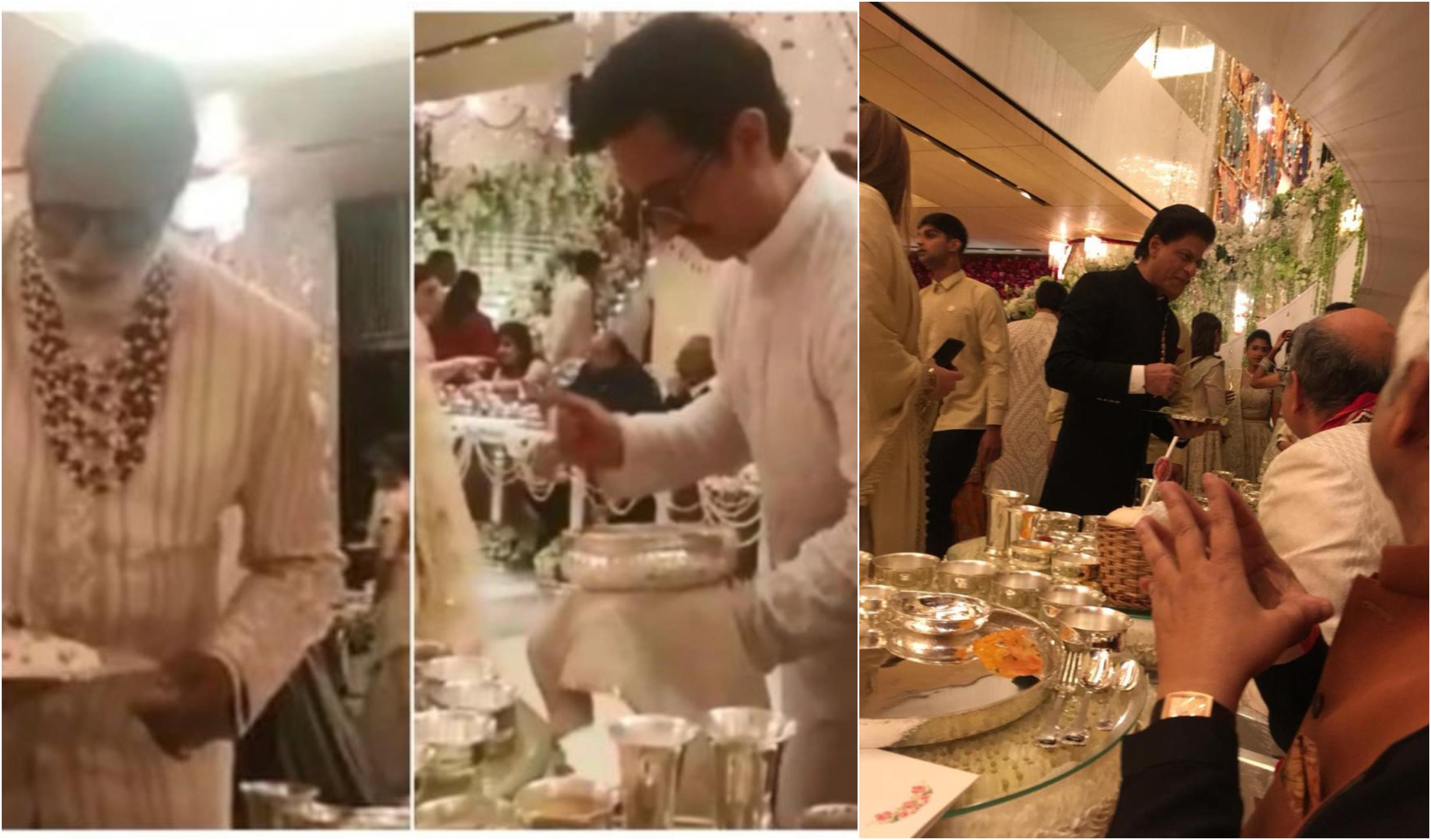 Ambani, Wedding, Mukesh Ambani, Isha Ambani, Anand Piramal, Amitabh Bachchan, Shah Rukh Khan, Aamir Khan, Abhishek Bachchan, Serving, Food, Fact Check, Fact Checker, Fake, NewsMobile, Mobile, News, India